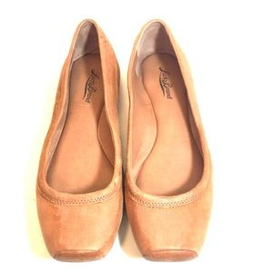 Lucky Brand Santana Brown Leather Flats 9B/39 GUC